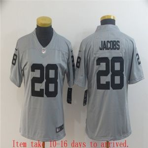 Women Raiders #28 Josh Jacobs Jersey